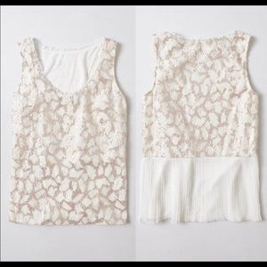 Anthropologie Meadow Rue Sequins Tank